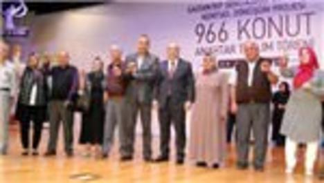 Gaziantep'te 966 konutun anahtar teslimi yapıldı