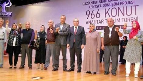 Gaziantep'te 966 konutun anahtar teslim töreni