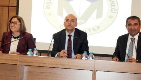 Mehmet Şimşek Fatma Şahin ile GAİMDER'i ziyaret etti