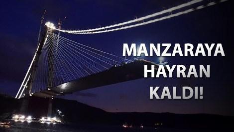Ahmet Misbah Demircan 3. Köprü'deki çalışmaları inceliyor