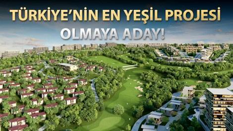 Ankara Golfkent projesinin yemyeşil alanı