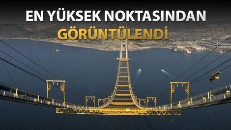 İzmit Körfez Geçişi Asma Köprüsü'nün en yüksek kulesi
