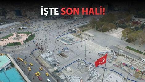 Taksim Meydanı'ndaki çalışmalar sona yaklaştı