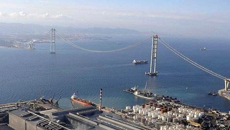 İzmit Körfez Geçişi Asma Köprüsü göz kamaştırıyor