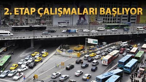 Mecidiyeköy'de trafiğe 'metro' ayarı