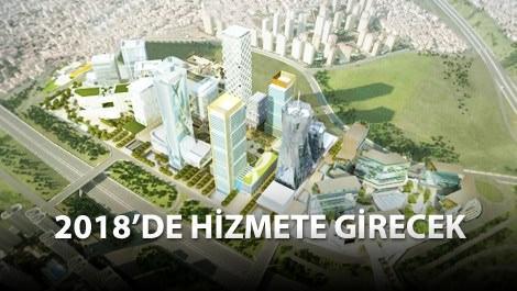 istanbul finans merkezinin havadan görünümü