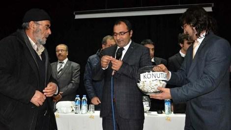 Erzurum'da, TOKİ konutları için kuralar çekildi