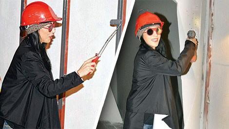 Hande Yener 'Sebastian'ı teftiş etti
