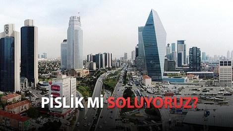 istanbul leventin havadan görünümü