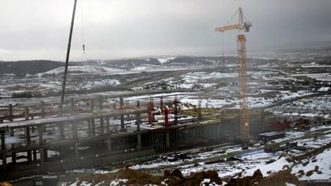 İstanbul'un 3. havalimanında çatı montajı başladı