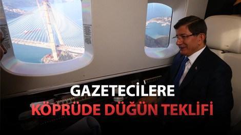 Ahmet Davutoğlu 3. Köprü'de devam eden çalışmaları inceledi