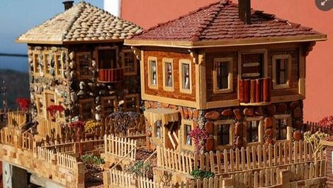 Tarihi Kastamonu evleri ahşap atıklarla yaşatılıyor