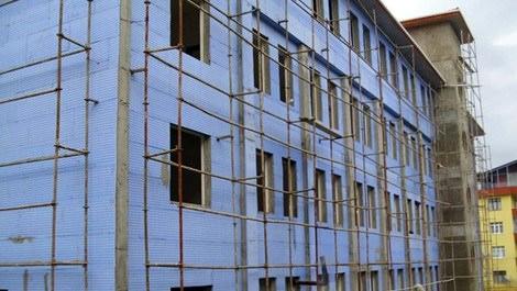 yalıtımlı yapılan bir binanın dış cephesi