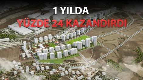Avrupark Bahçekent projesinin havadan görüntüsü