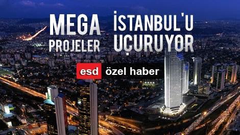 istanbul levent bölgesinin gece görünümü