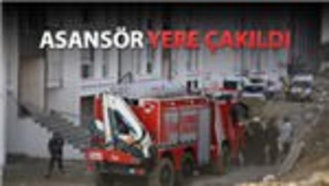 Bahçeşehir'de asansör kazası!