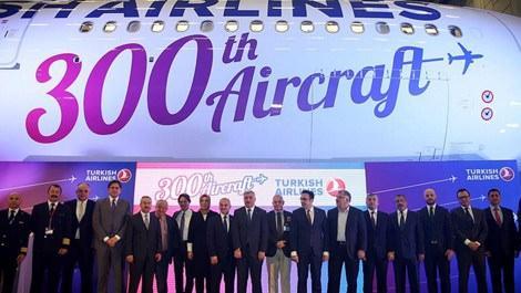 THY filosuna katılan 300. uçak Airbus A330-300'