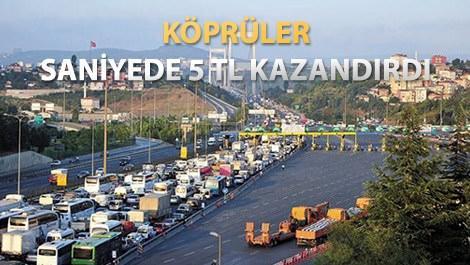 Köprü ve otoyollar 6,7 milyar TL gelir elde etti
