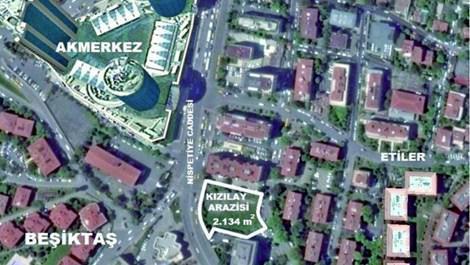 Kızılay arsasına yapılacak otel alanı