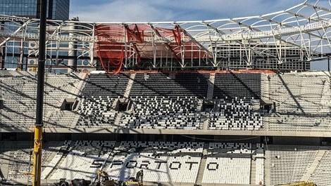 Vodafone Arena'nın çatısında sona geliniyor!