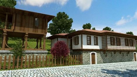 yöresel mimariye uygun ev