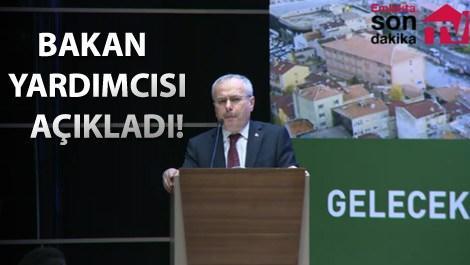 3. Her Yönüyle Kentsel Dönüşüm kongresinde açıklamalar yapan Çevre ve Şehircilik Bakan Yardımcısı Mehmet Ceylan