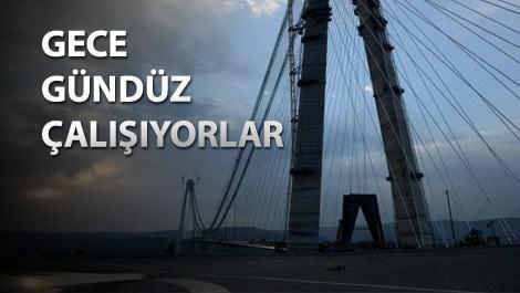 Yavuz Sultan Selim Köprüsü'nde son 9 metre!