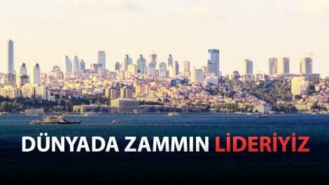 Dünyada konut fiyatları en çok Türkiye'de yükseldi!