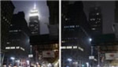 Empire State binası 1 saat karardı