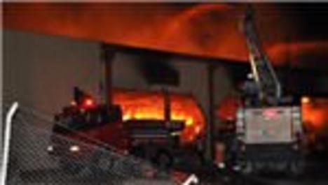 Osmaniye'de korkutan fabrika yangını!