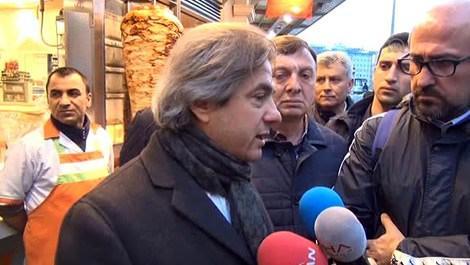 Ahmet Misbah Demircan'dan esnafa geçmiş olsun ziyareti