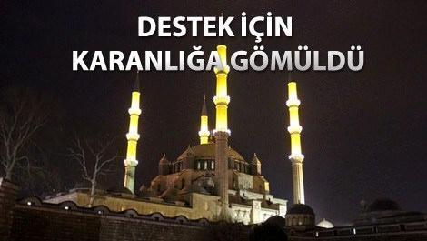 Selimiye Camisi'nden Dünya Saati etkinliğine destek!