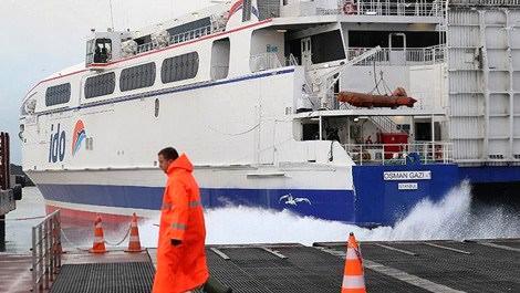 İDO, deniz otobüsü seferlerini iptal etti