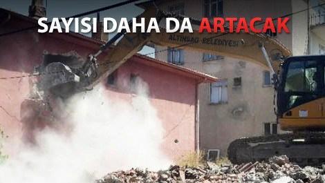 Ankara'da 4 bin 571 bina yıkıldı!