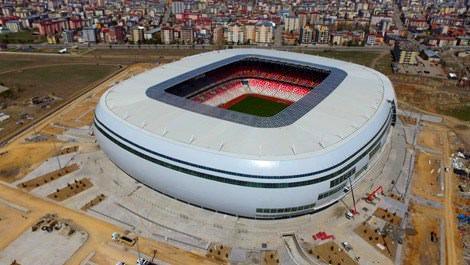 Türkiye'nin ilk ekolojik stadında sona yaklaşıldı