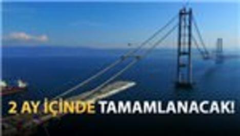 İzmit Körfez Geçişi Köprüsü'nde sona doğru...