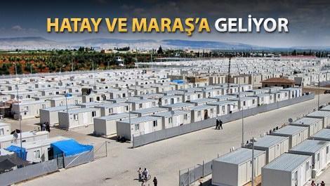 TOKİ'den Suriyelilere üç yeni konteynerkent