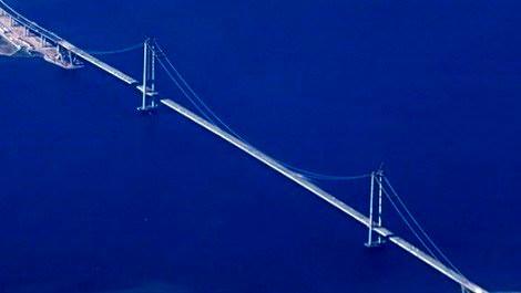 Cumhurbaşkanlığı helikopterinden Körfez Geçiş Köprüsü