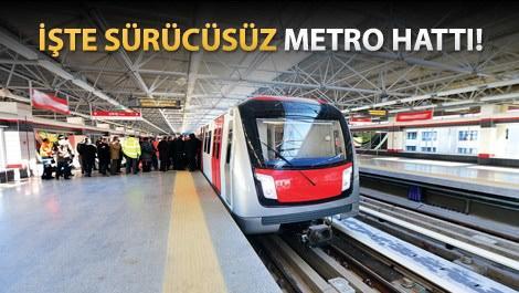 Türkiye'nin ilk sürücüsüz metrosu için geri sayım!
