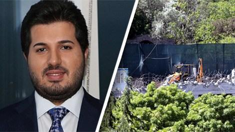 Reza Zarrab'ın köşkündeki yıkım bitti