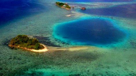 Büyük Okyanus'ta beş adayı deniz yuttu