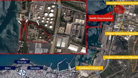 iskenderun'da satılık petrol tesisi alanı