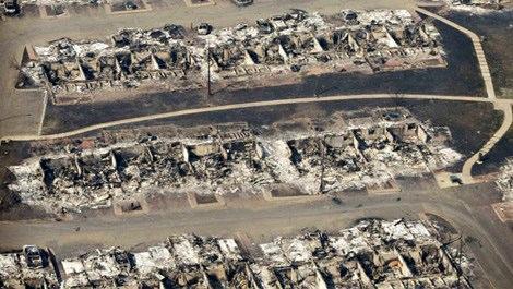Fort McMurray yangın sonrası, savaştan çıkmış gibi!