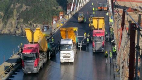 3. Köprü'de asfalt dökümü başladı!