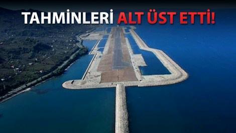 Ordu-Giresun Havalimanı birinci yılı devirdi