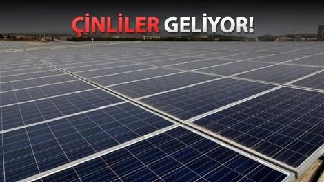Çinliler Türkiye'de güneş enerjisi yatırımı yapacak