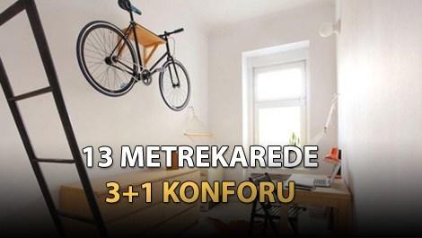1 odalı tasarım ev