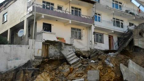 Gümüşhane yıkılma tehlikesi bulunan evler