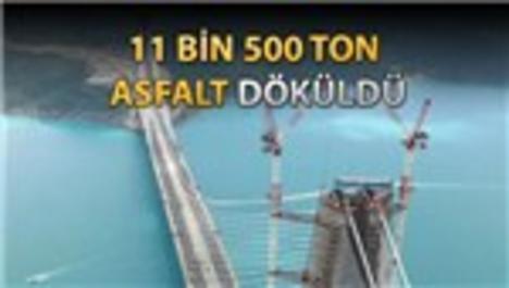 3. Boğaz Köprüsü'nde asfaltlama tamam!
