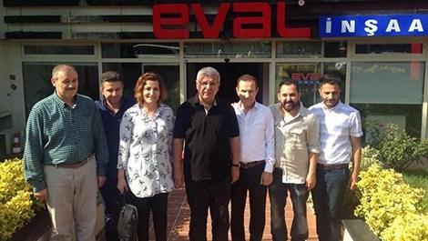 Mehmet Metiner, Eval İnşaat'ı ziyaret etti!